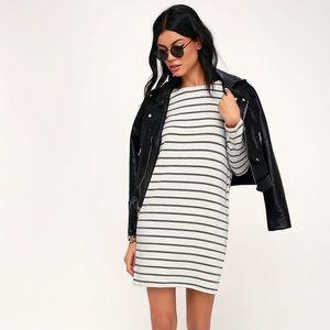 Billabong striped shirt dress